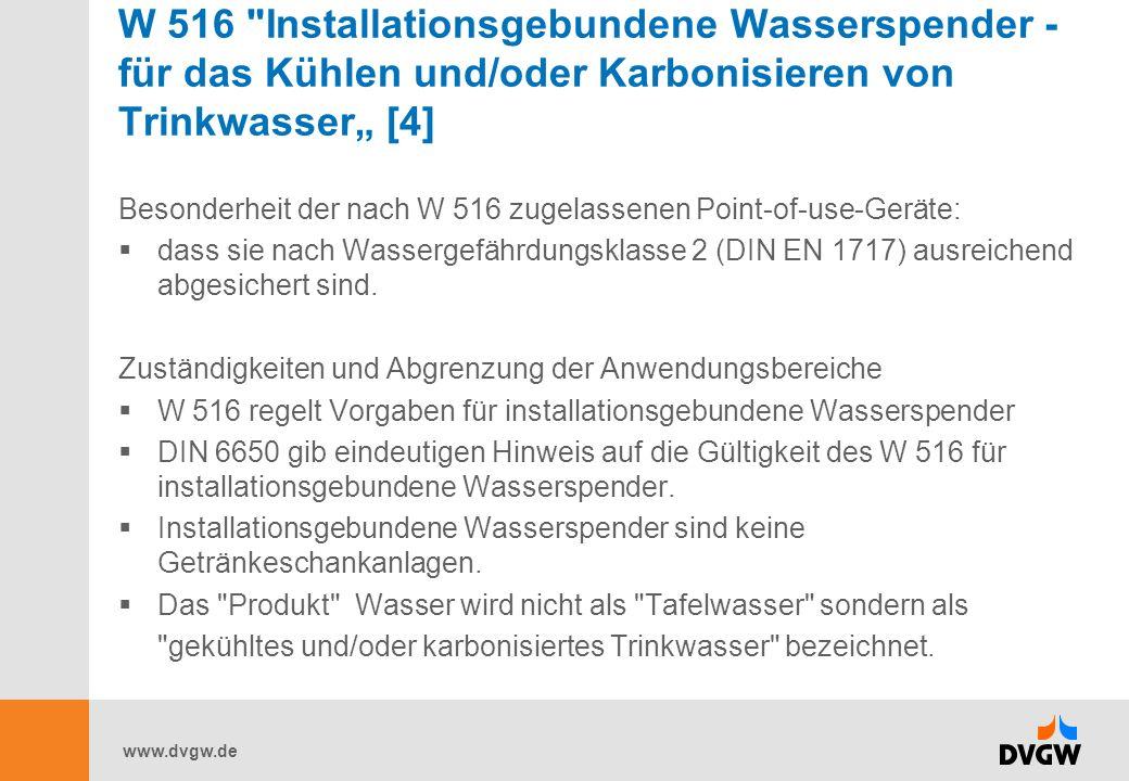 """W 516 Installationsgebundene Wasserspender - für das Kühlen und/oder Karbonisieren von Trinkwasser"""" [4]"""